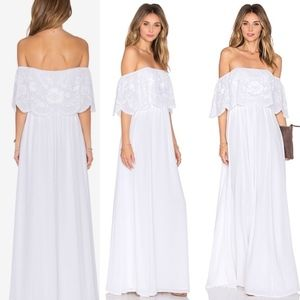 Lovers + Friends Hawaiian Style White Maxi SZ S
